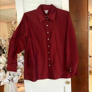 Mimi maternity burgundy silk blouse